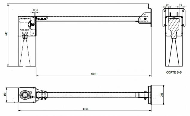 Soporte Radar RIKA RKL-02_plano