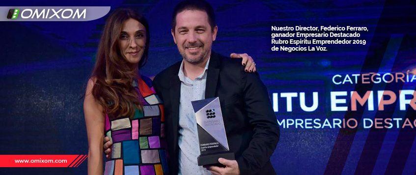 Nuestro Director, Federico Ferraro,  ganador Empresario Destacado  Rubro Espíritu Emprendedor 2019 La Voz