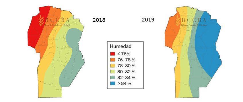 Un Mayo más húmedo que en 2018
